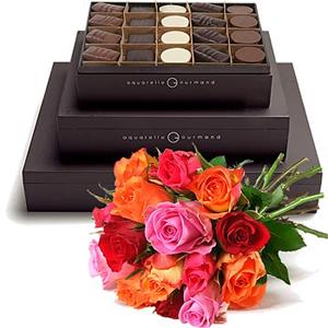 aquarelle_gourmand_bouquet_fleurs_chocolats_pralines