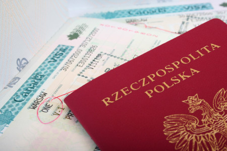 Polish-Passport-with-canadian-visa