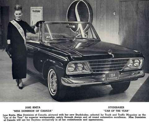 Studebaker 1964,Miss Dominion of Canada Jane Kmita