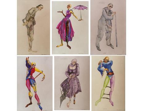 Kostiumy do LA MANEGE DE CAROLINE- Michel de Gelderode J.Pienkowski - Copy